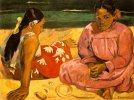 Paul Gauguin. Femmes de Tahiti [Sur la plage] (Tahitian Women [On the Beach])