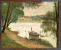 Georges Seurat. Gray Weather, Grande Jatte Painted