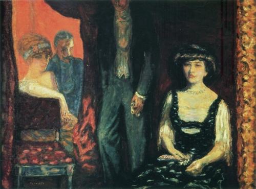 Пьер Боннар. Ложа. 1908. Холст, масло. 900 x 1206. Музей д'Орсэ, Париж.