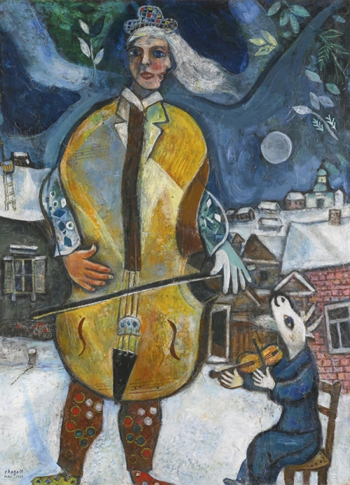 Марк Шагал. Виолончелист. 1939. Холст, масло. 101 х 74. Частная коллекция.