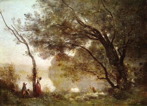 Камиль Коро. Воспоминания о Мортефонтэне. 1864 (Салон 1864) Холст, масло. 65.5 cm × 89. Лувр, Париж.