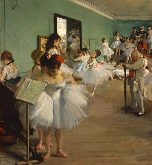 Эдгар Дега. Балетный класс. Около 1874. Холст, масло. 83.2 x 76.8. Музей искусств Метрополитен, Нью-Йорк.