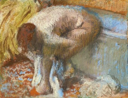 Эдгар Дега. Женщина, вытирающая ноги. 1893. Бумага на доске, пастель, 45.7 х 58. Частная коллекция.