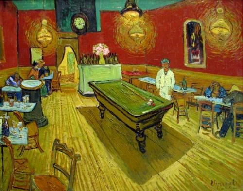Винсент Ван Гог. Ночное кафе. Сентябрь 1888. Холст, масло. 89 x 70. Галерея Йельского университета, Нью-Хавен, Коннектикут.