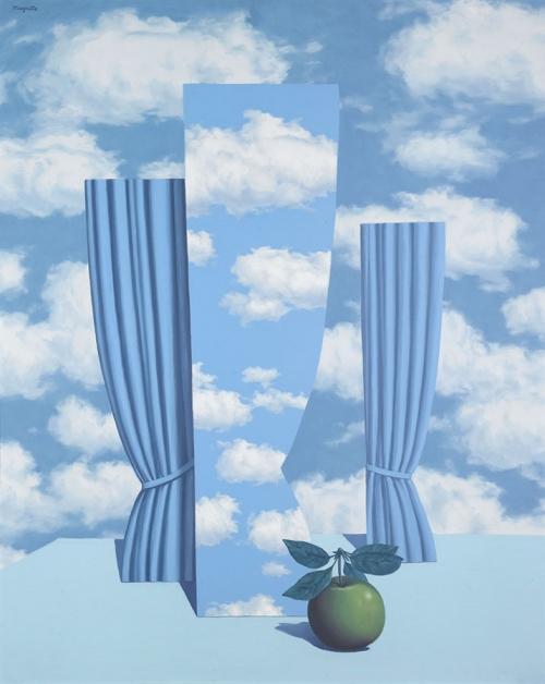 Рене Магритт. Прекрасный мир. 1962. Холст, масло, 100 х 81. Частная коллекция.