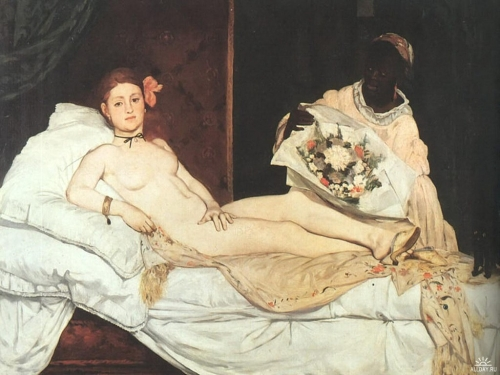Эдуард Мане. Олимпия. 1863. Холст, масло. 130.5 x 190. Музей д'Орсэ, Париж,
