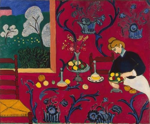 Анри Матисс. Красная комната. 1908. Холст, масло. 180.5x221. Эрмитаж, Санкт-Петербург.
