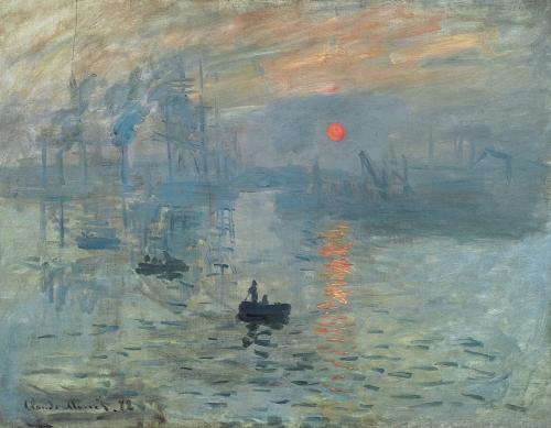 Клод Моне. Впечатление. Восход солнца. 1872. Холст, масло. 48 × 63. Музей Мармоттан Моне, Париж.