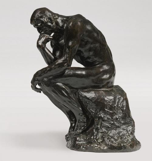Огюст Роден. Мыслитель. Маленькая модель. Вариант на подставке. 1903. Бронза. Высота: 38см. Частная коллекция.