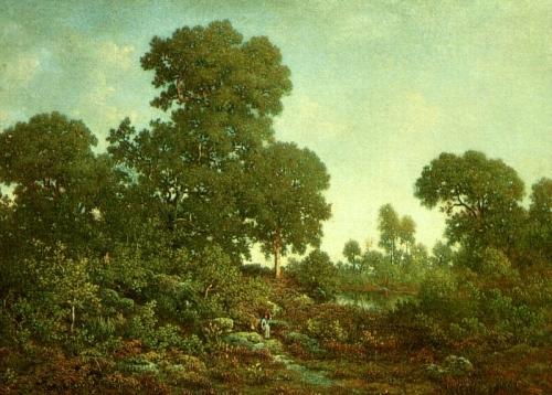Теодор Руссо. Весна. 1860. Масло по доске, 42.2 x 54. Институт искусств Чикаго.