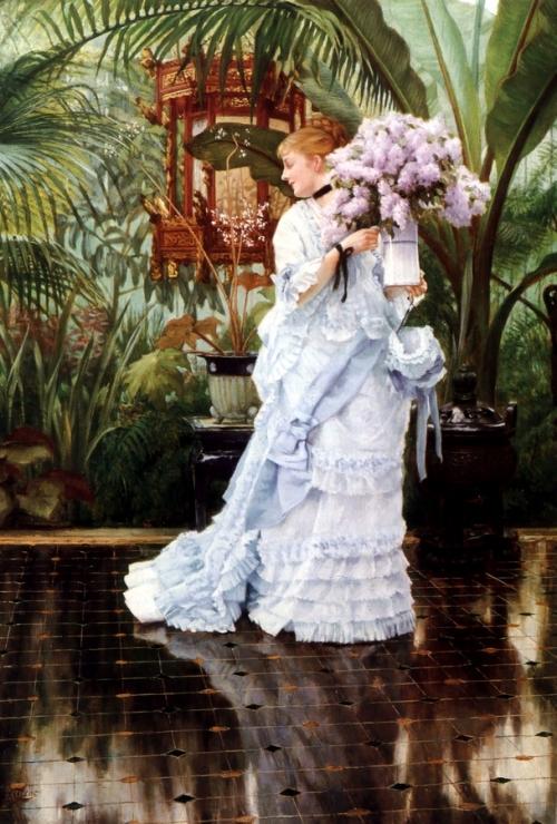 Джеймс Тиссо. Букет сирени. ок. 1875, Холст, масло. 50.8 x 35.5. Частная коллекция.