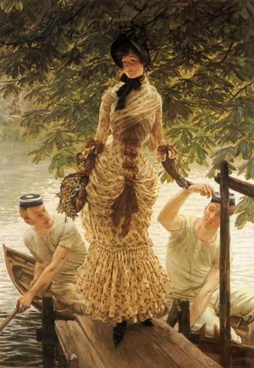 Джеймс Тиссо. На Темзе. ок. 1874. Холст, масло. 146.7 x 101.6. Частная коллекция.