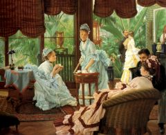 Джеймс Тиссо. В консерватории. ок. 1875-1878. Холст, масло. 42.5 x 53.9. Частная коллекция.