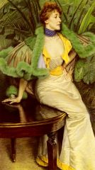 Джеймс Тиссо. Принцесса де Бройль.1895. Холст, масло. 96.8 x 168. Частная коллекция.