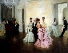 Джеймс Тиссо. Слишком рано. 1873. Холст, масло. 79 х 102. Художественная галерея Гилдхолл, Лондон.