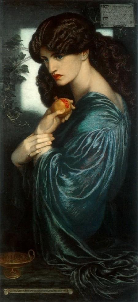 Данте Габриель Росетти. Прозерпина. 1874. Холст, масло. 125,1×61. Галерея Тет, Лондон.