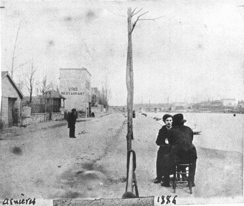 Эмиль Бертран и Винсент ван Гог. Аньер. 1886 г.